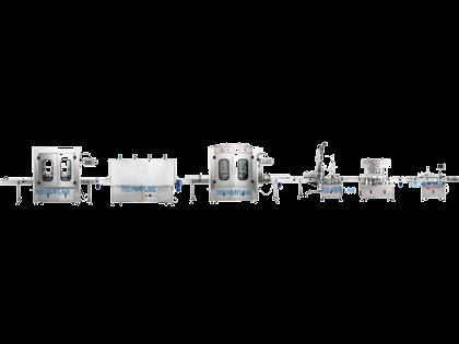 全自动洗瓶烘干灌装旋盖贴标生产线