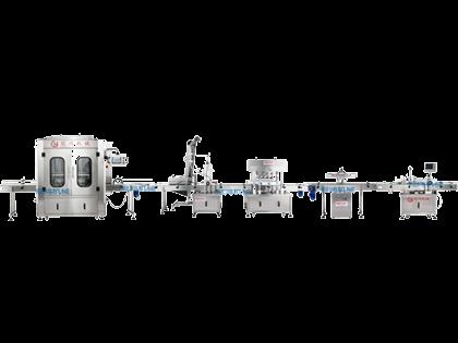 全自动灌装旋盖铝箔封口贴标医药生产线